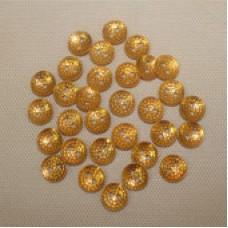 Пуговица алюминевая золотистая  14 мм