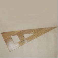 Треугольник - линейка деревянный