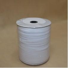 Резинка трус.8 мм. на бобине белая (100м в рул)