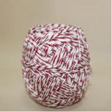 Шпагат х\б  бело-красный (кл 200 гр )