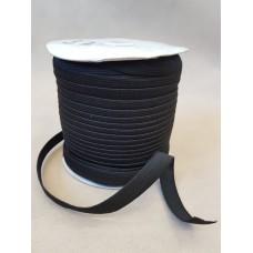 Резинка трусовая 15 мм на бобине (100 м в рул.) черная