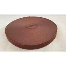 Лента окантовочная 22 мм коричневая №1 / 0603 (100 м)