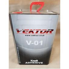 Клей VEKTOR V-01 red негорючий (ведро ж\б 15 кг)