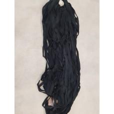 Лента киперная х\б 1,0 см черная цвет 168 (уп 100 м)