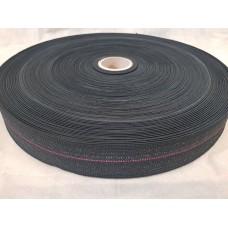 Лента резиновая 50\05 BLC-140 (100 м в рул) Черная одна полоса