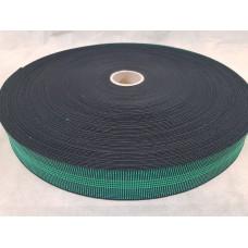 Лента резиновая 50\20 (100 м в рул) Зеленая четыре полосы