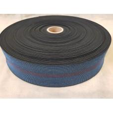 Лента резиновая 80\50 (100 м в рул) Синяя три полосы