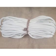 Шнур д.10 мм плоский белый (2008) (50 м)