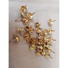 Гвоздь декоративный золото d 9,6 (1000 шт)