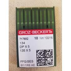 Иглы для прямострочных машин Groz-Beckert №100 DP-5 134 717682 #16 упаковка 10 штук. толстая колба