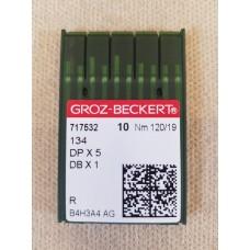 Иглы для прямострочных машин Groz-Beckert №120 DP-5 134 717532 #19 упаковка 10 штук. толстая колба